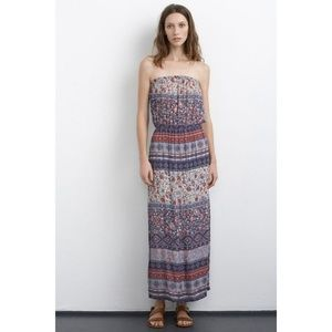 Velvet by Graham & Spencer Paisley Maxi Dress Sz M